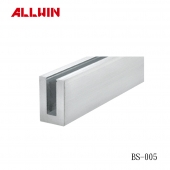 Aluminum Laminated Glass Standard Square Base Shoe