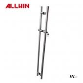Stainless Steel 3 Column Locking Push Pull Door Handle Locking Ladder Pulls