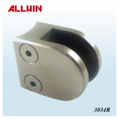 Stainless Steel Radius Base D shape Round Shape Mini Glass Clamp
