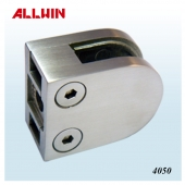 Stainless Steel D Shape Flat Base Glass Clamp