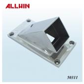 Stainless Steel Oblong Bevel Angle Square Tube Base Plate Flange