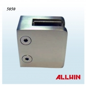 50 x 50mm Stainless Steel Square Railing Handrail Glass Clamp