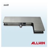 Stainless Steel Square corner and Edge Pivot Glass door Patch Fitting