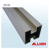 Stainless Steel Square Roll Rail Double Slot Square Tube