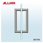 Stainless Steel Mitered Corner Glass Door Handle
