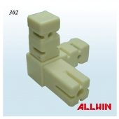 Nylon Connector core cover with casting aluminum 3 Way Square Tube Connector