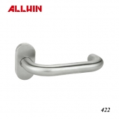 Stainless Steel L Type With Spring Oval Rose Lever Handle