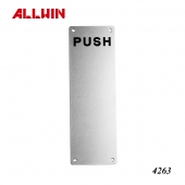 Stainless Steel door push handle panel