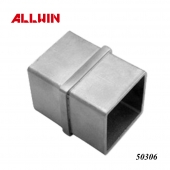 Stainless Steel 2 Way 180 Degree Inline Square Tube Connector