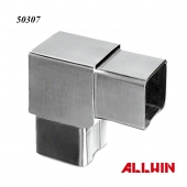 Stainless Steel Square Tube Connector Flush Elbow