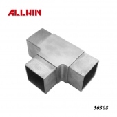Stainless Steel 3 way Tee Square Tube Connector