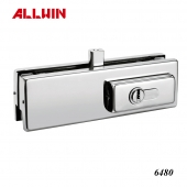 Stainless Steel Glass Fitting Bottom Patch Lock