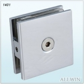 Solid Brass Square Shower Door Glass Clamp