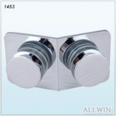 Solid Brass 135 Degree Flat Round Shape Glass Clamp