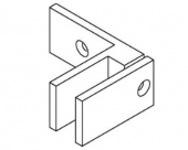Stainless Steel 90 Degree Wall To Glass Balustrade Glass Bracket
