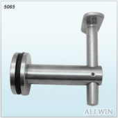 Glass Mounted Aluminum handrail bracket saddle