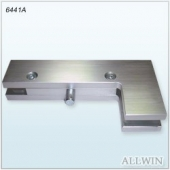 Stainless Steel Square corner and Edge Pivot Glass door Patch Fitting Clamp
