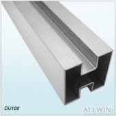 Stainless Steel Double Slot Square Tube