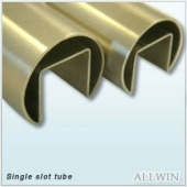 Stainless Steel Single Slot Round Tube