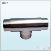 Stainless Steel 3 Way Tee Round Tube Connector