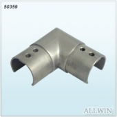 Stainless steel 90 degree Glass Slot Pipe Connector