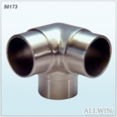 Stainless Steel 90 Degree 3 Way Outlet Elbow Tube Connector