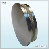 Economic Stainless Steel Round Tube Knurled End cap