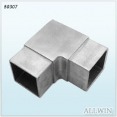 Stainless Steel Square Angle Tube Connector