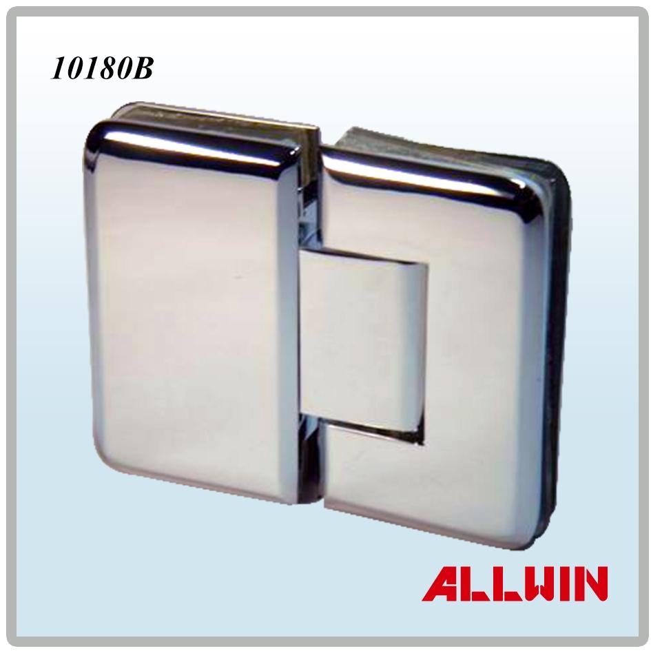 180 degree round corner and bevel edge brass glass door for 180 degree hinge door