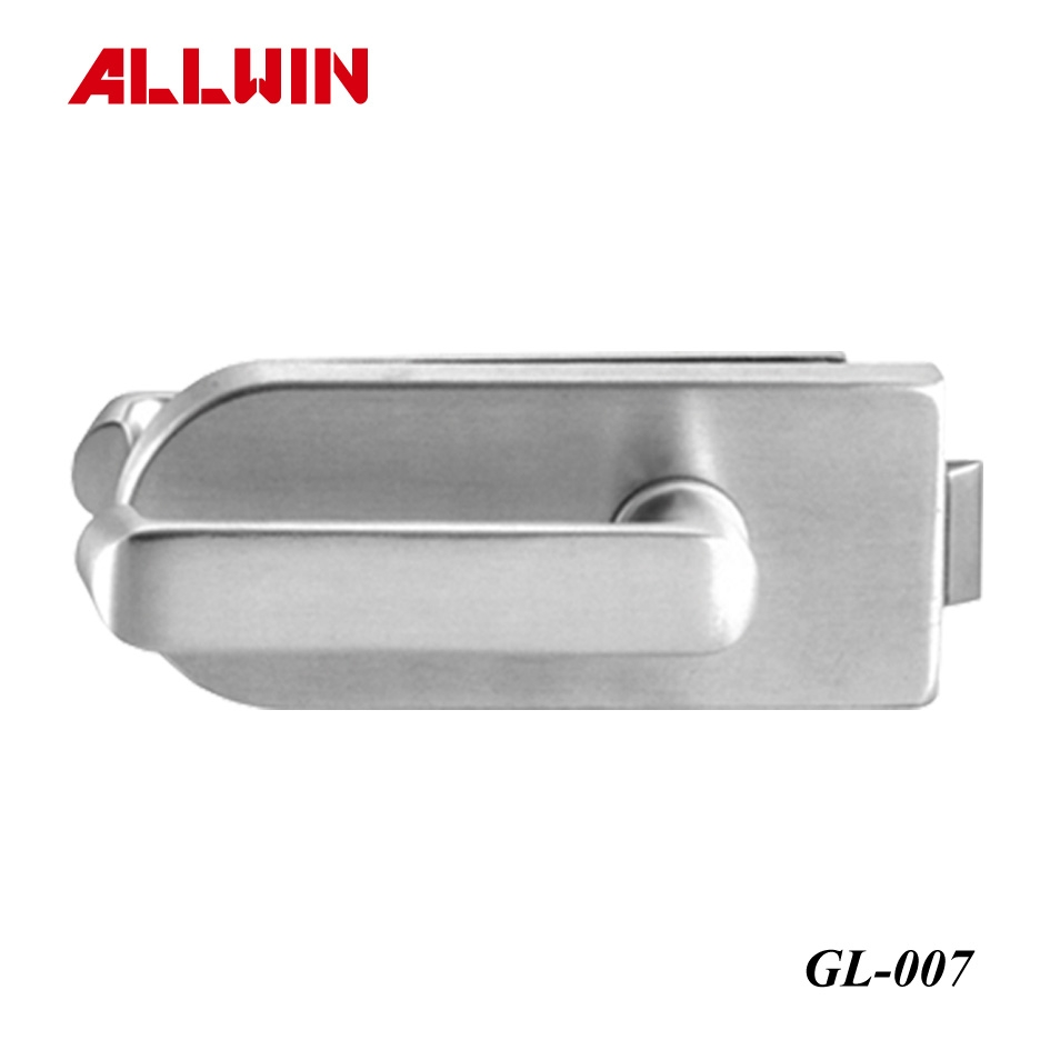 Glass mounted latch locks and thumbturn glass door locks for 007 door locks