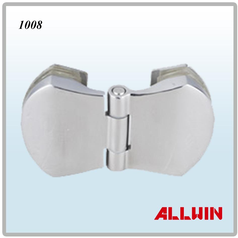 180 degree brass inline hinge glass to glass door mount for 180 degree hinge door