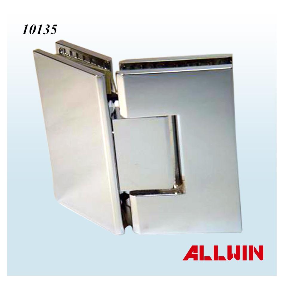 Brass Frameless 135 Degree Square Corner Shower Glass Door Hinge ...