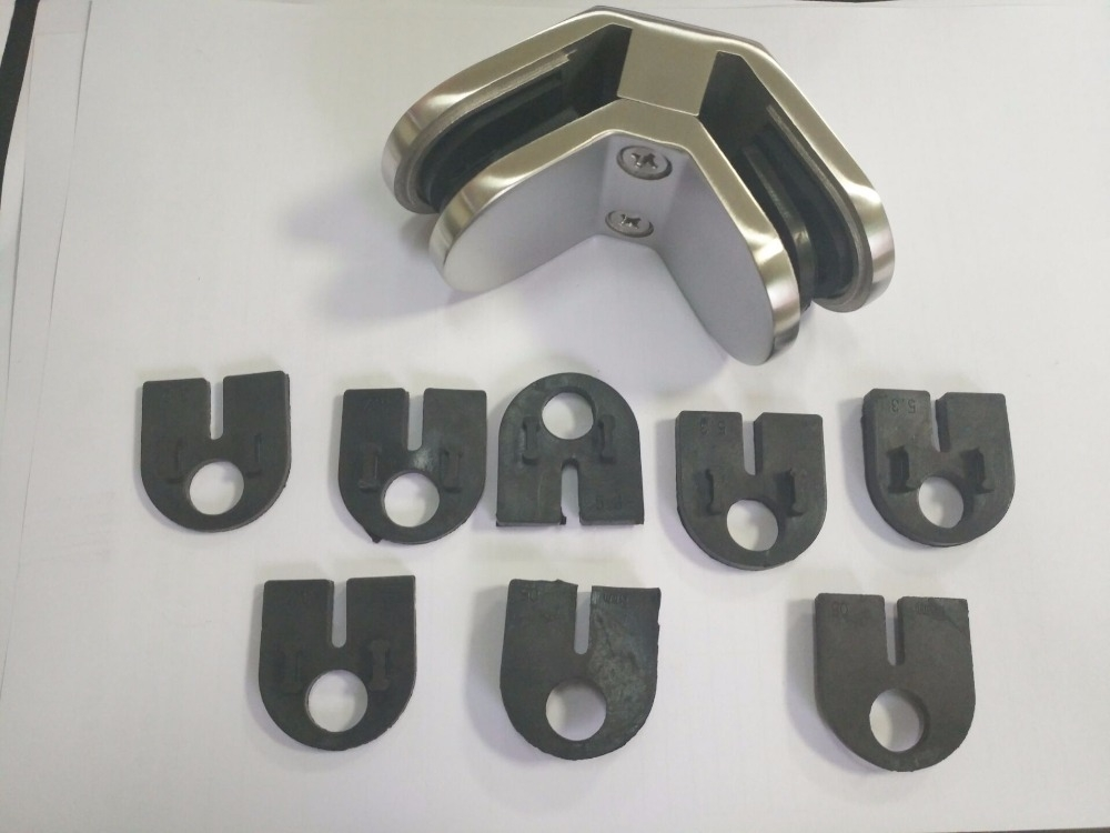 Stainless Steel 2 Ways 90 Degree Corner Square Glass Clamp