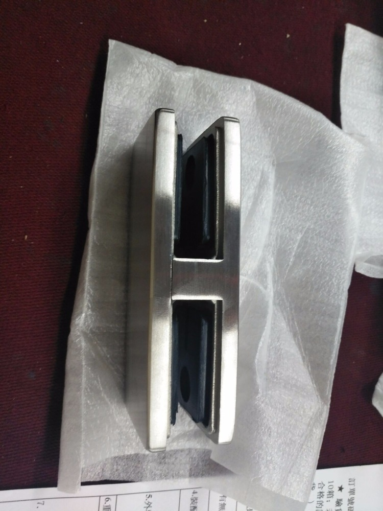 Stainless Steel 180 Degree Square Railing Glass Clamp