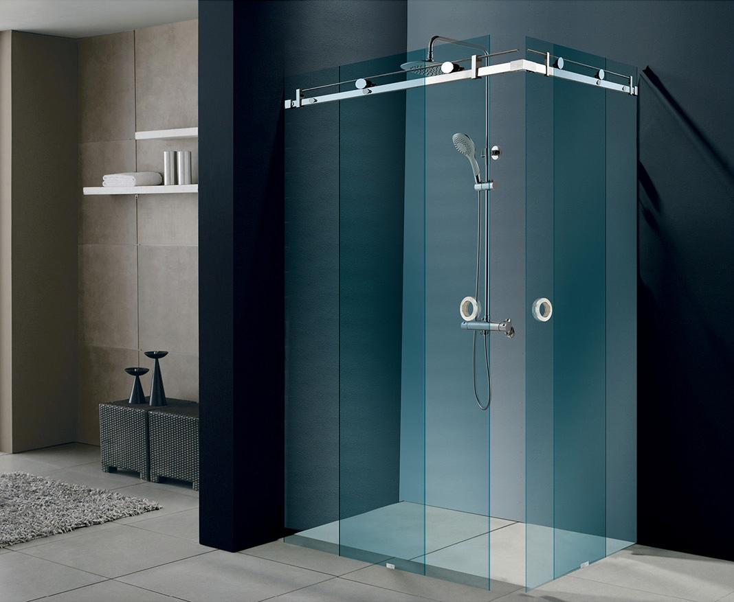 Stainless Steel Serenity Sliding Shower Door System