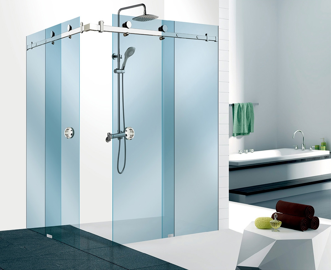 Wall and glass shower sliding door glass sliding door for Sliding glass door wall