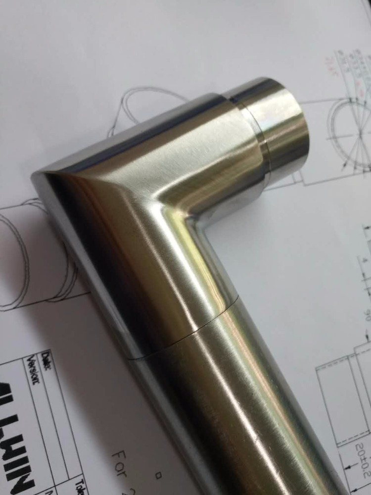 Handrail Stainless Steel 180 Degree Round Pipe Connector