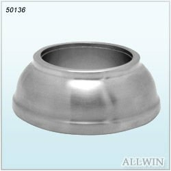 Stainless Steel Round Base For Fence Post Stair Oval Cover