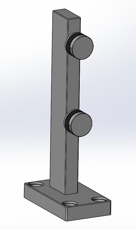 Aluminum Balustrade Glass Mini Post Bracket Product 2 4